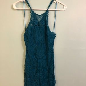 Free People Lace Turquoise Dress in XS!